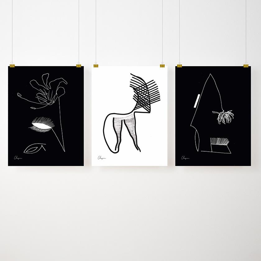 Black&White Trio - Accessories