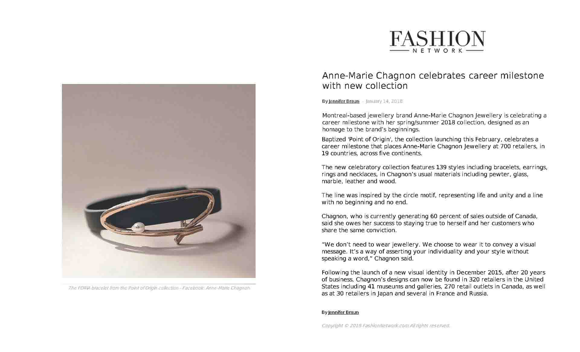 The POINT OF ORIGIN collection in the Fashion Network magazine