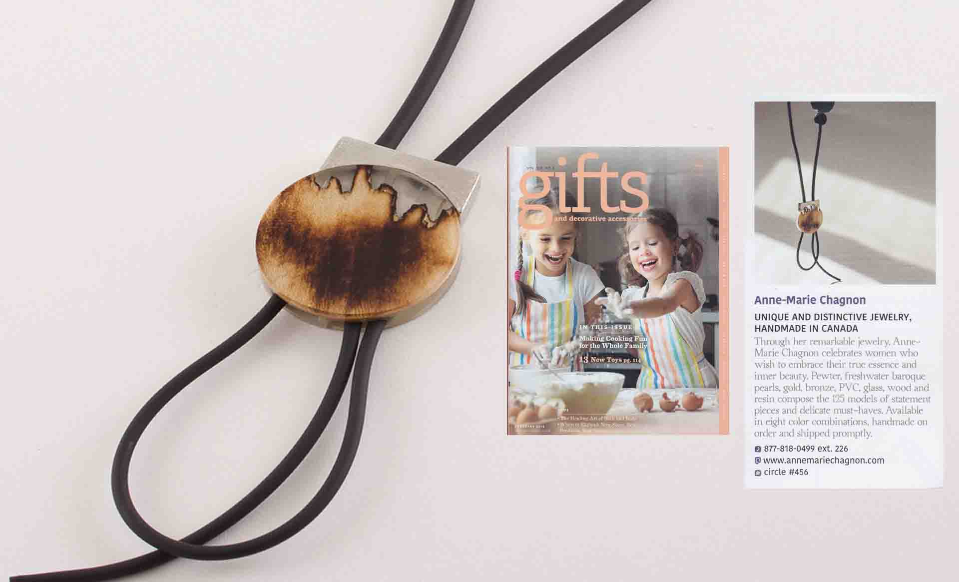 The POINT OF ORIGIN collection featured in the magazine Gifts and decorative accessories