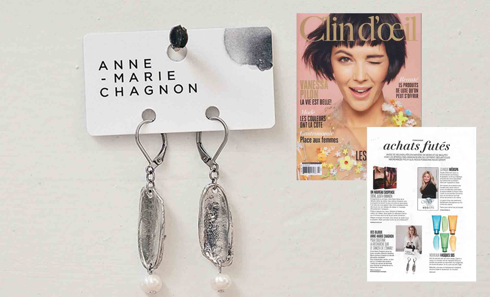 The POINT OF ORIGIN collection featured in Clin d'Oeil magazine