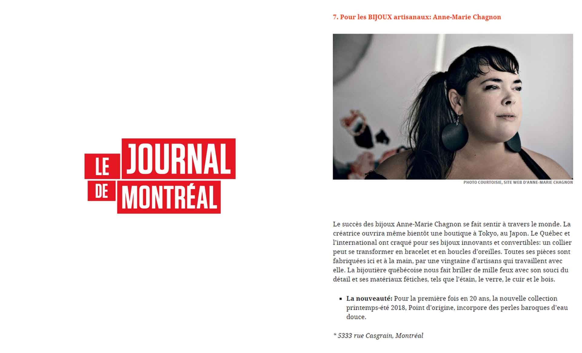 Special women's day : Le Journal de Montréal introduces Anne-Marie Chagnon