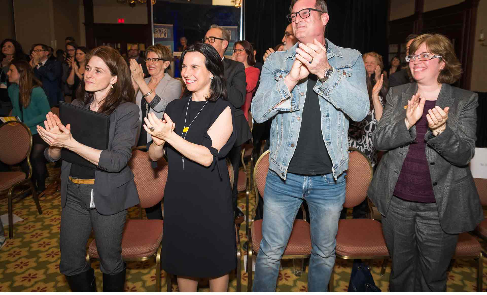 The Mayor of Montreal, Valérie Plante wears the necklace Freesia