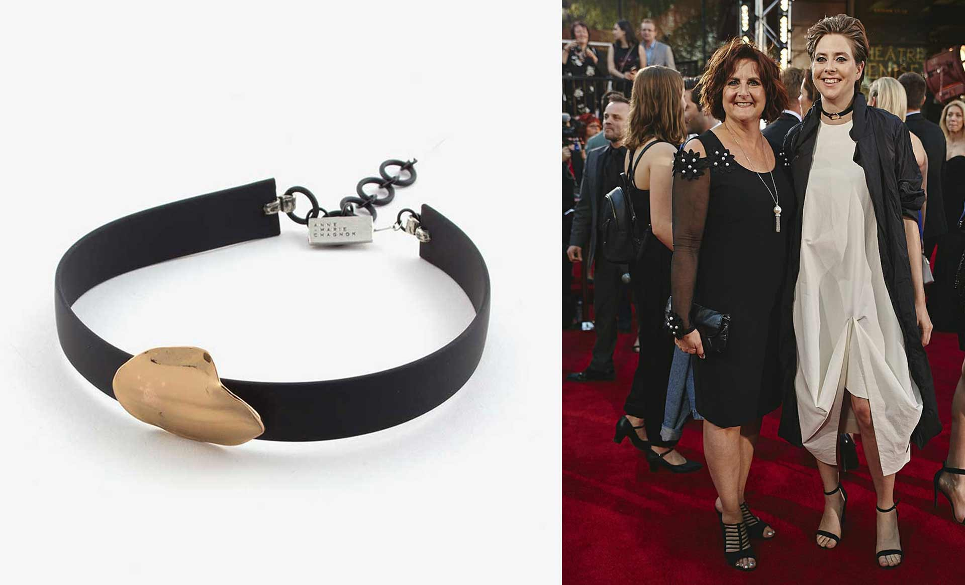 Eve Landry wears the necklace Emin for the Artis Gala