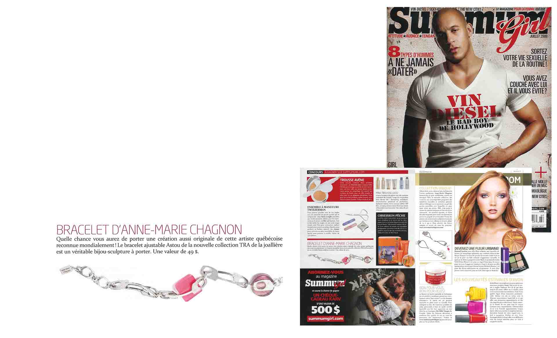 Anne-Marie Chagnon in SummumGirl magazine