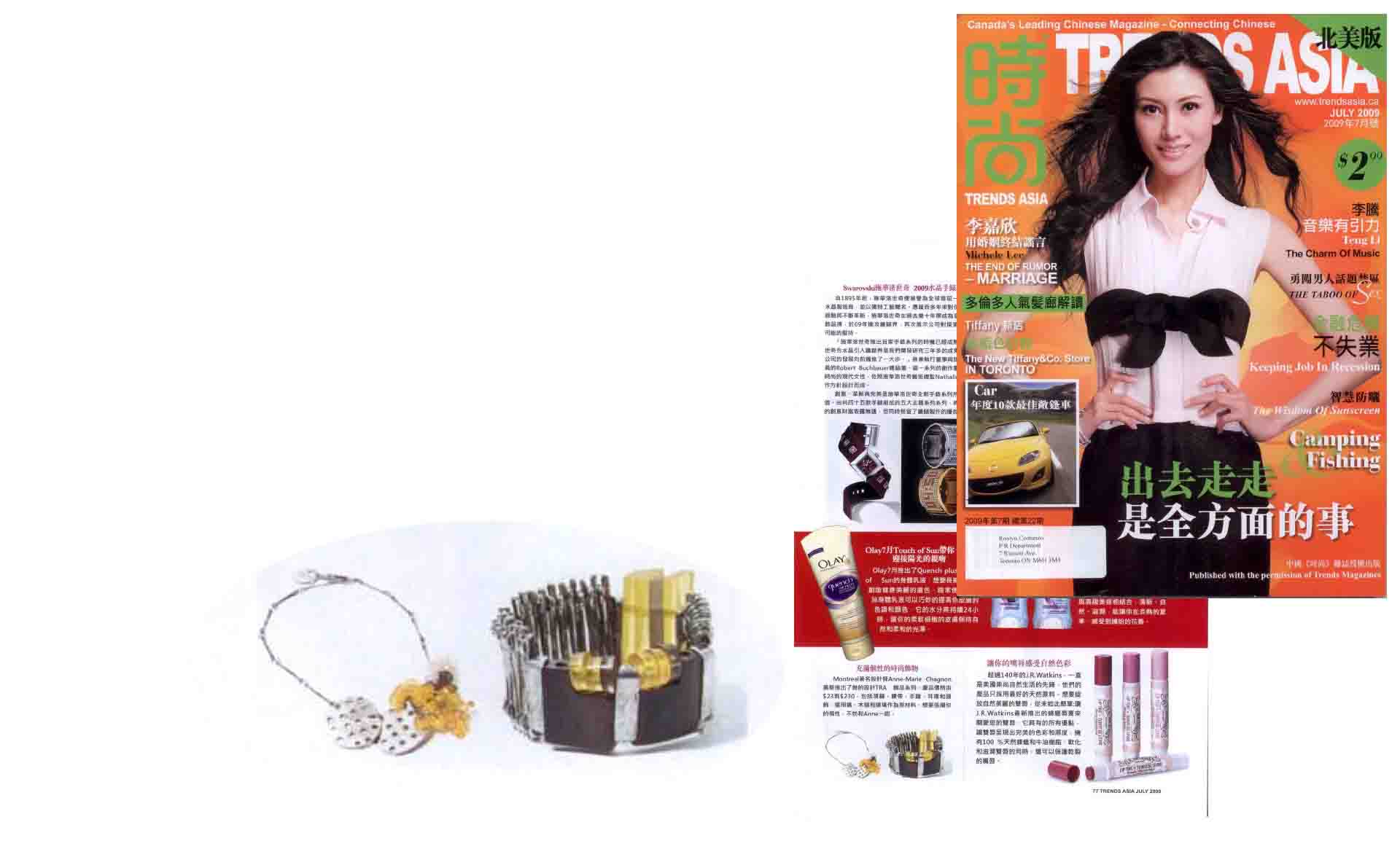 Anne-Marie Chagnon in the Trends Asia magazine