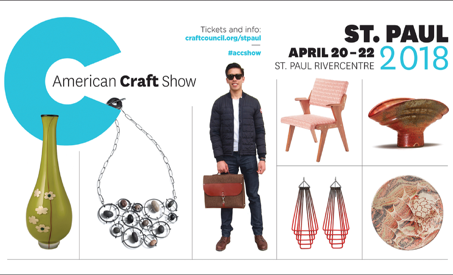 American Craft Show à Saint Paul du 20 au 22 avril