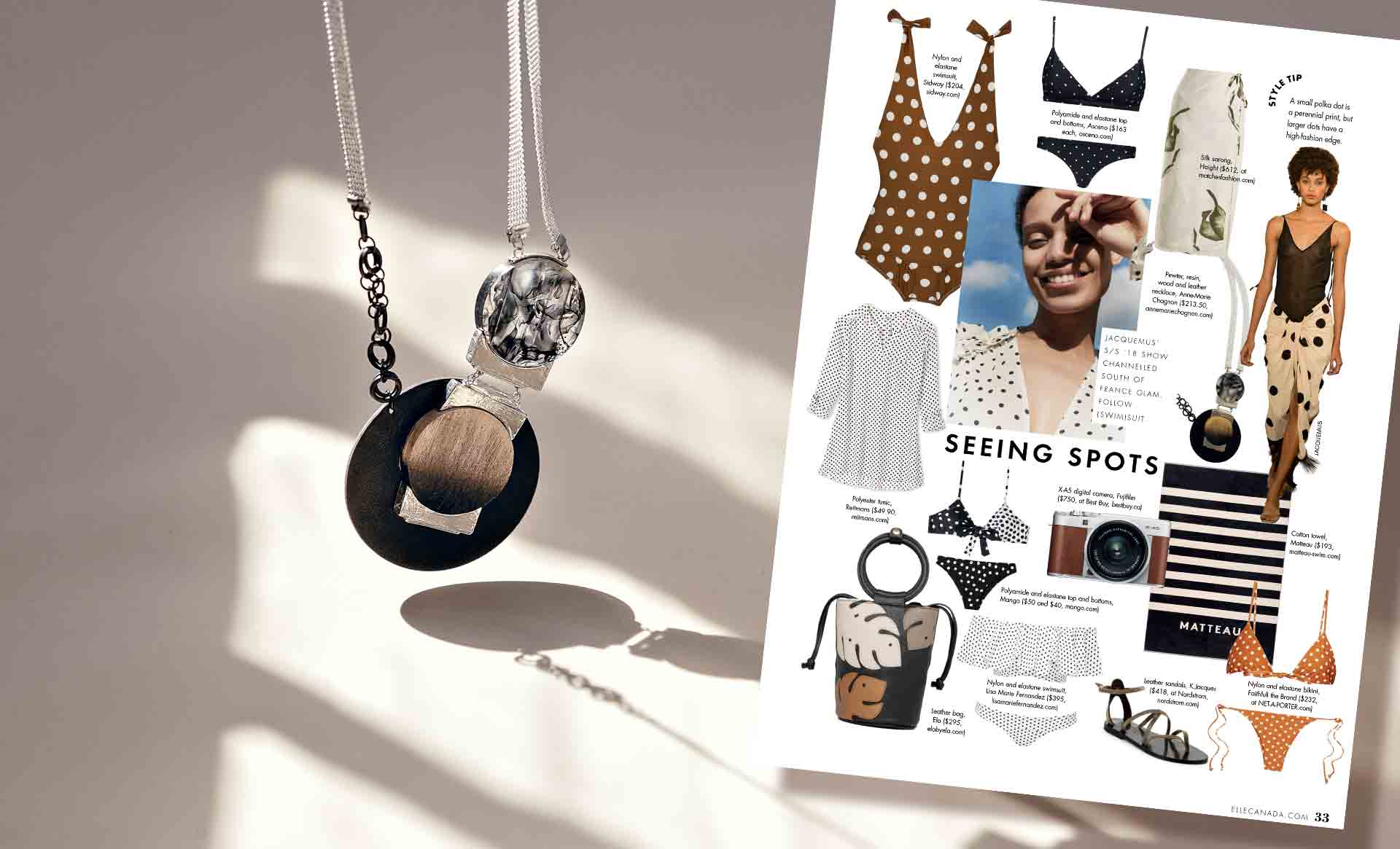 The Savana necklace in ELLE Canada's and ELLE Quebec's SUMMER STYLES!