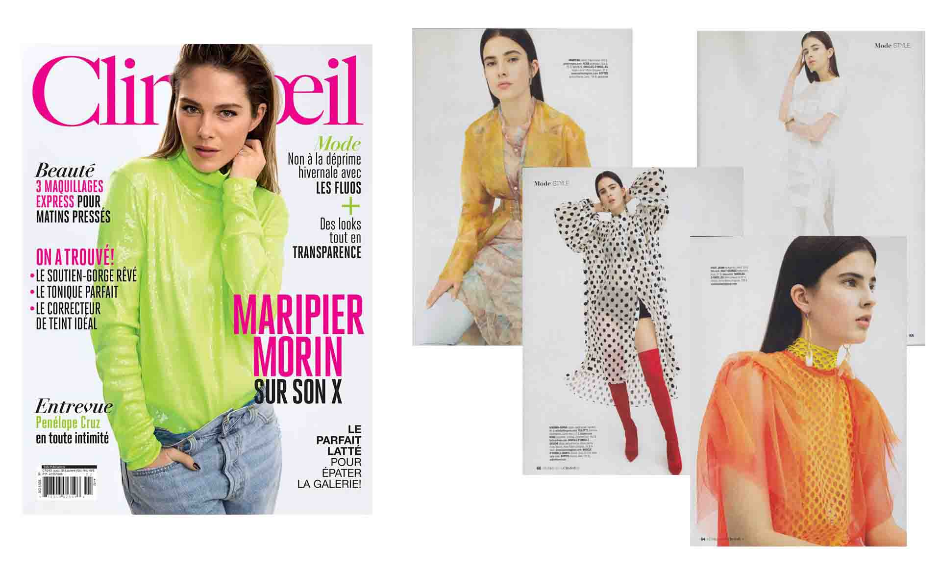 The POINT OF ORIGIN collection in the Clin d'Oeil magazine